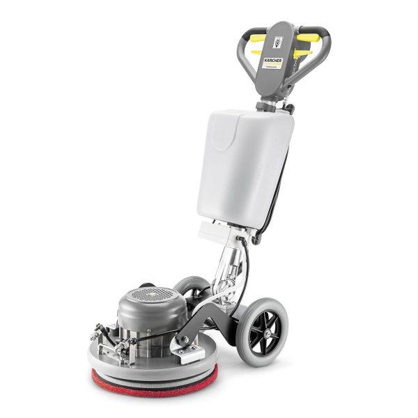 Schrobmachine met spray mogelijkheid